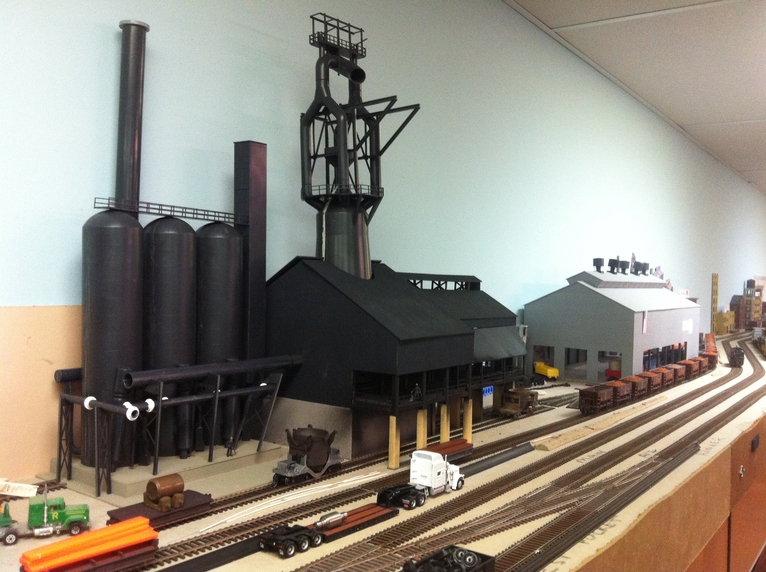 Blast Furnace Construction : Quaker valley layout
